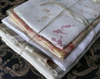 French Vintage Fabric/Material for Crafting and Projects. Two square meters, washed pressed and ready to use.