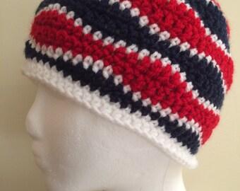 Crocheted Brainwave Beanie: ADULT SIZE