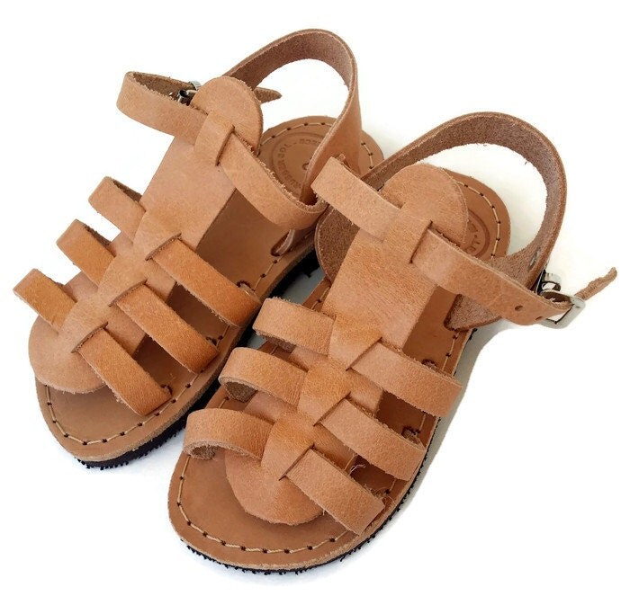 Gladiator Kids Sandals handmade Greek Children Sandals Girl