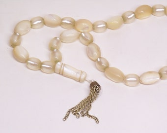 "vintage worry beads, ""komboloi"" made of mother of pearl"