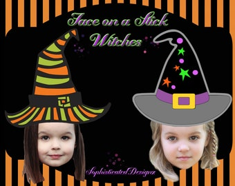 Face On A Stick Witches