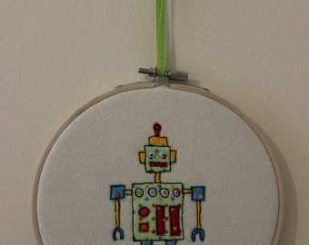 Robot in Embroidery Hoop
