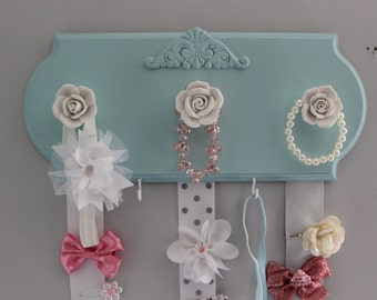 Hair bow holder, hair bow organizer, girls nursery decor, baby shower girl, hairbow holder, baby girl nursery,  headband holder,  accessory