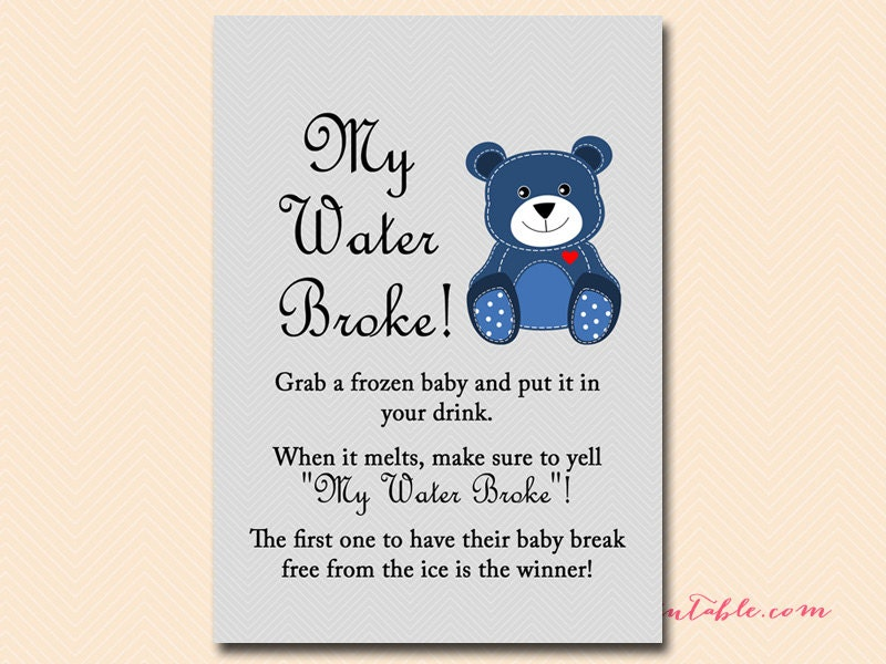 my water broke baby shower game baby ice game ice cube game