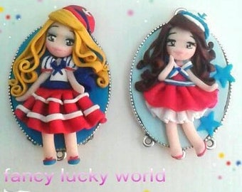 Sailor outfit Dolly doll blonde or brown hair handmade cammeo summer Lolita