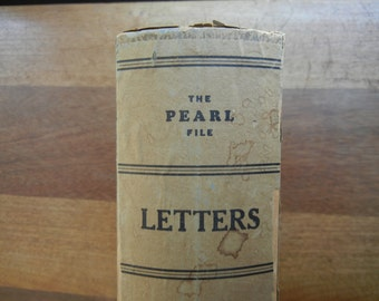 Antique File Box ~ The Pearl File ~ For Letters