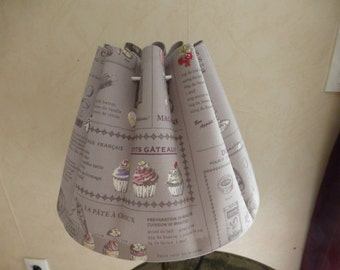 Lampshade, kitchen, baking, recipe, lampshade, cooking, french cake, grey, pink, red...