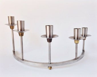 Vintage candelabra / candle holder / taper candles