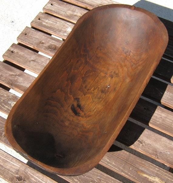 Vintage wood dough bowl