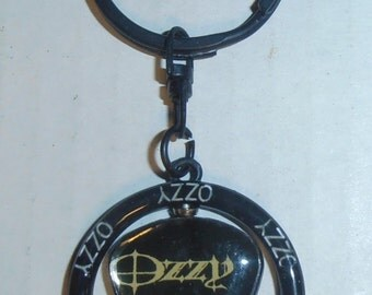 Ozzy Spinning Guitar Pick Keychain