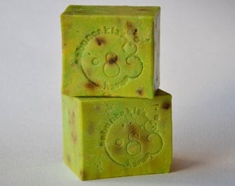 GREEN TEA SOAP -   Handmade Soap, Natural Soap, Bar Soap, Vegan soap,  Rustic Soap