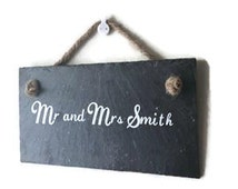 Personalised sign. Personalise your own slate. Unique gift. Handcut Slate sign. personalised with your own wording. Wedding decor.