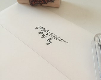 return address custom stamp - elle style