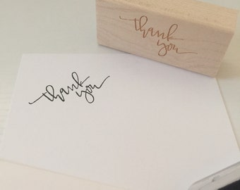 calligraphy stamp: thank you