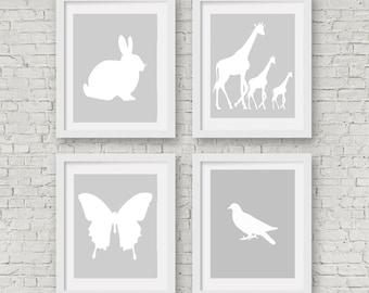 Nursery Printable Set,  Neutral Nursery Printables, Gender Neutral, Neutral Nursery Decor, Neutral Nursery Wall Decor, Nursery Prints