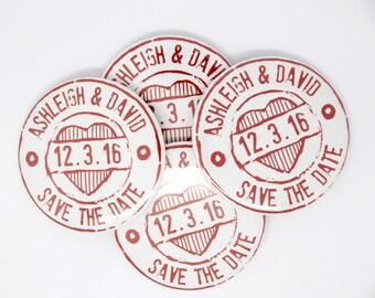 30 x CUSTOM wedding save the date magnet, wedding stamp magnet, wedding invite, engagement save the date, wedding magnet