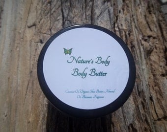 Brown Sugar & Fig Whipped Body Butter, Organic Unrefined Shea Butter Body Butter, Moisturizing Whipped Body Butter