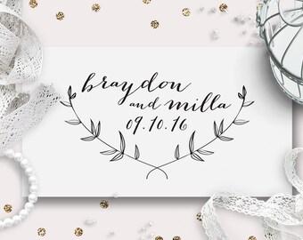Wedding Monogram, Custom Logo Design | Calligraphy Garden | DIY Digital Wedding Logo | Save the Date | Wedding Stationery | Printable