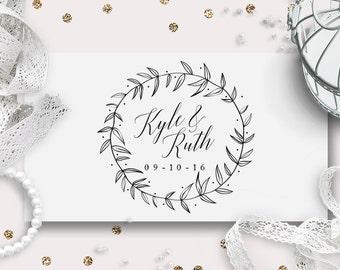 Wedding Monogram, Custom Logo Design | Garden Sketch | DIY Digital Wedding Logo | Save the Date | Wedding Stationery | Printable