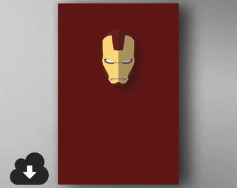 Ironman Inspired. Minimalistic. The Avengers. Movie Poster. Downloadable Wall Art.