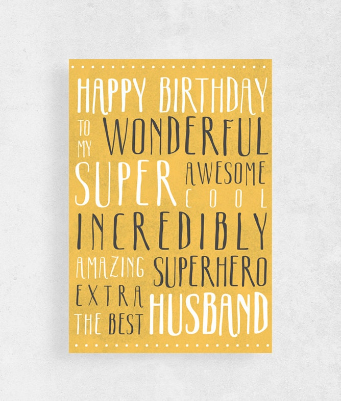 Happy Birthday Card For Husbandfunny Card For HusbandHappy