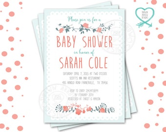 Vintage Flowers Baby Shower