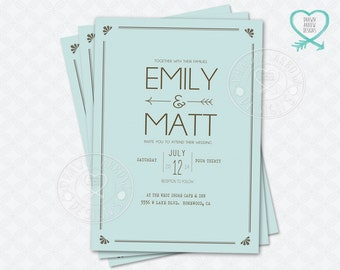 Arrow Wedding Invitation