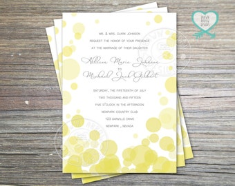Infinite Yellow Wedding Invitation