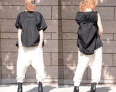 SPECIAL OFFER Maxi Black Tunic / Asymmetrical Tunic /Oversize Summer Top / Extravagant Black Dress/Plus Size Black Top dy Adeptt