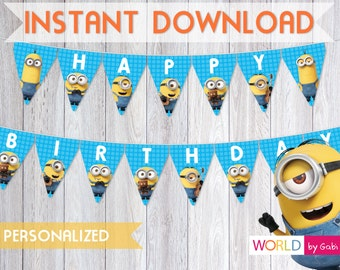 Minions Banner | Minion Birthday | Minion Party | Minion Birthday Banner | Minions Decorations | Minion Party Ideas | Minions Birthday Party