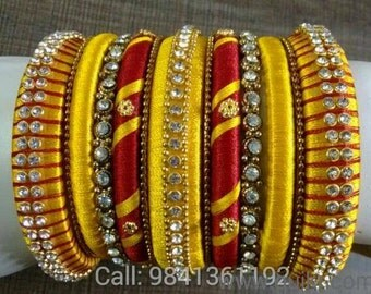Sparking Drops High Quality silk thread Bangles