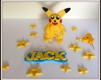 Edible Pokemon cake topper ,handmade,birthday,sugar paste decoration
