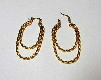 14K Solid Yellow Gold Filled Earrings