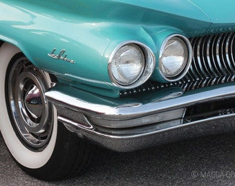 Vintage Turquoise Car Fine Art Photography Print - Art for Home Decor