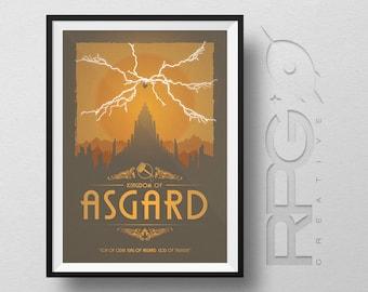 Thor Origin Print : Kingdom of Asgard - MARVEL