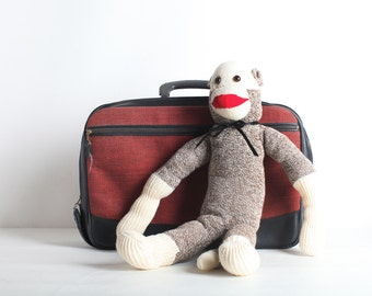 Vintage Sock Monkey, Stuffed Animal Toy