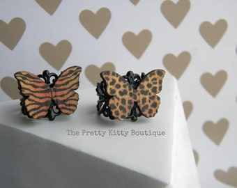 Whimsical Butterfly Adjustable Filigree Rings