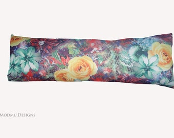 Multicolour Floral Long Scatter/Bolster cushion/ Draft excluder