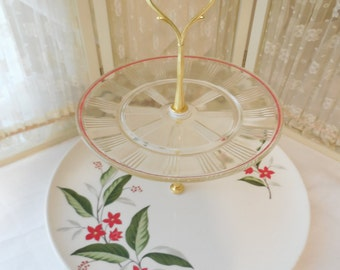 2 Tier Red and Gold Cupcake Stand, 2 Tier Red and Ivory Cake Stand, 2 Tier Treat Stand, 2 Tier Dessert Stand