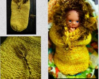 Newborn Hand Knit Lion Swaddle