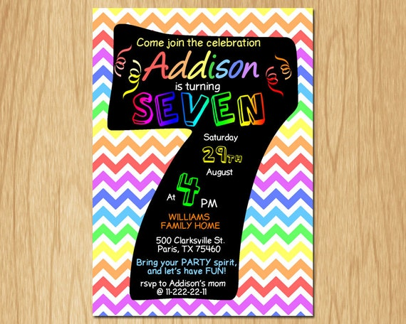Seventh Birthday Invitation Wording was Great Style To Make Cool Invitations Design
