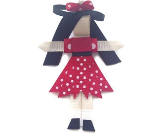 Minnie Mouse A Day At Disneyland Ribbon Sculpture Hair Bow