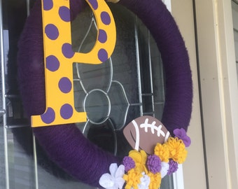 LSU Wreath