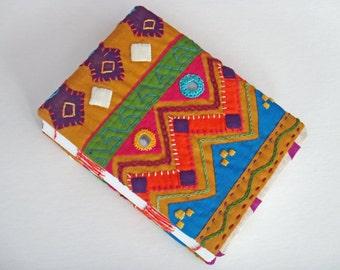 Hand-bound Ethnic Book with Shisha Mirrors