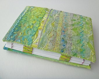 Transfer Printed Lace Handbound Book