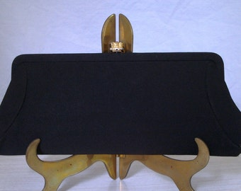 1950's Black Evening Clutch with Chain