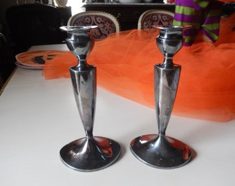 PAIRPOINT CANDLE HOLDERS