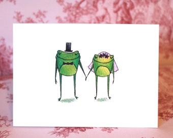 Wedded Frogs Card