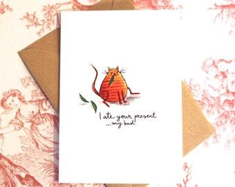 Fat Cat Birthday Card