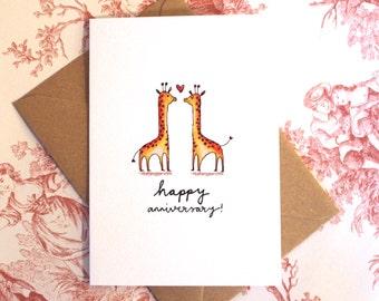 Cute Giraffe Anniversary Card
